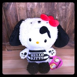 NWT hello kitty with panda bear costume